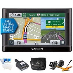 "nuvi 66LMT GPS Nav w/ Lifetime Maps & Traffic 6"" Display Ultimate Bundle"