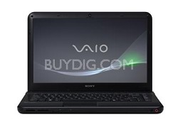 VAIO VPC-EA45FX/BJ 14-Inch Entertainment Laptop (Black) Intel Core i3-380M