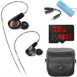 ATH-E70 Professional In-Ear Monitor Headphone Portable Power Bank Bundle