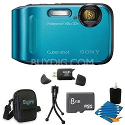 Cyber-shot DSC-TF1 16 MP 2.7-Inch LCD Waterproof Digital Camera Blue Kit