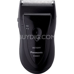 Pro-Curve Wet/Dry Battery Operated Black Travel Shaver
