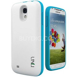 Unity Ultra-Slim 2600mAh Battery Case for Samsung Galaxy S4 - White/Blue