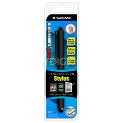 Black Basic Touch Screen Stylus w/ Micro Fiber Cloth
