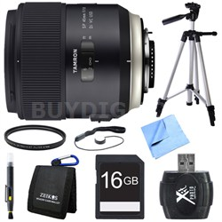 SP 45mm f/1.8 Di VC USD Lens for Canon EOS Mount Bundle