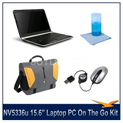 NV5336u 15.6 Inch Laptop PC On The Go Kit  Includes Case,Mouse and More