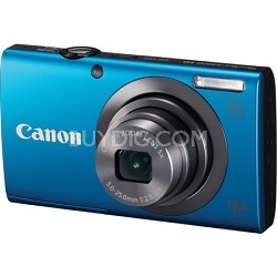 PowerShot A2300 16MP Blue Digital Camera 5x Optical Zoom 720p HD Video