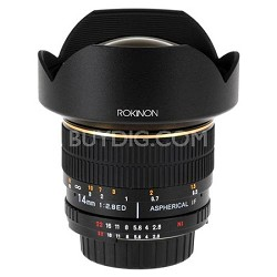 14mm Ultra-Wide Angle F/2.8 IF ED UMC Lens for Olympus Cameras FE14M-O -OPEN BOX