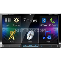 "KW-V41BT 7"" Double Din CD/DVD/USB Bluetooth Car Stereo Receiver"