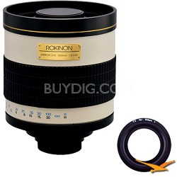 800mm F8.0 Mirror Lens for Nikon 1 (White Body) - 800M
