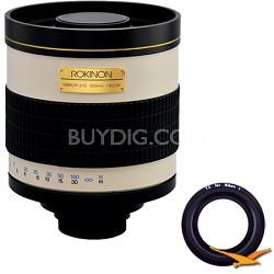 800mm F8.0 Mirror Lens for Nikon 1 (White Body) - 800M