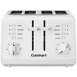 CPT-142 Compact 4-Slice Toaster (White) - Factory Refurbished
