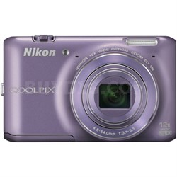 COOLPIX S6400 16 MP 12x Zoom Digital Camera - Purple (Factory Refurbished)