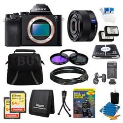 Alpha 7R a7R Digital Camera, 35mm Lens, 2 64 GB SDHC Cards, 2 Batteries Bundle