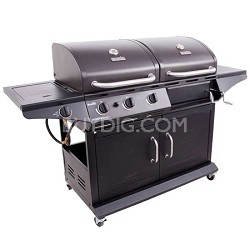 Combination Charcoal Grill and Gas Grill with Side Burner