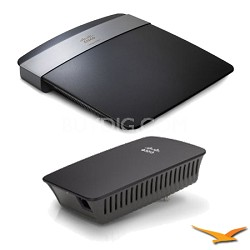 E2500 Advanced Dual-Band Wireless N Router with RE1000  Range Extender