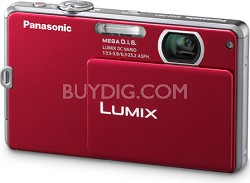 DMC-FP1R LUMIX 12.1 MP Digital Camera (Red) - REFURBISHED