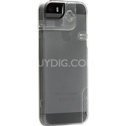 Quick Flip Case for iPhone 5 & 5/S + Pro Photo Adapter - Clear