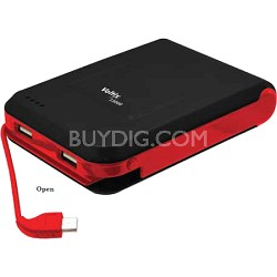 Portable 13000mAh Battery Pack - Charges via dual USB ports