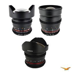 Canon EF 3 Cine Lens Kit (14mm T3.1, 24mm T1.5, 8mm T3.8)
