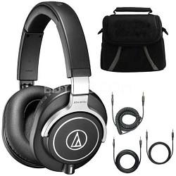 ATH-M70x Professional Monitor Headphones Black Deluxe Bundle