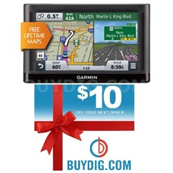 "nuvi 55LM 5"" GPS Navigation System with Lifetime Maps Gift Bundle"