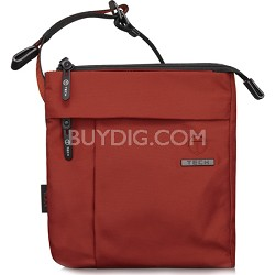 T-Tech Civilian Enzos North/South Slim Crossbody (Sienna Red/Black)