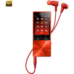 NWA26HN 32GB Hi-Res Walkman Digital Music Player with Noise Cancelation - Red