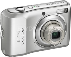COOLPIX L19 8MP Digital Camera (Bright Silver) - REFURBISHED