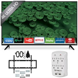 D58u-D3 D-Series - 58-Inch 120Hz 4K Ultra HD LED Smart HDTV Wall Mount Bundle