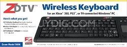 Wireless Keyboard for TV-connected Windows PC, Xbox 360, and PS3.