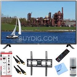 32LF5600 - 32-Inch 1080p 60Hz LED HDTV Plus Mount & Hook-Up Bundle