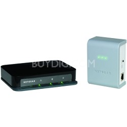 Ethernet Switch - 200 Mbps HomePlug AV - 4 Port