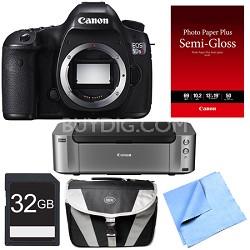 EOS 5DS R 50.6MP Digital SLR Camera (Body Only) Printer Bundle