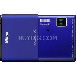 COOLPIX S80 14.1 MP Ultra-Slim 3.5 in Touchscreen Blue Camera w/ HD Video