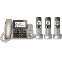 Corded Phone with 3 Cordless Handsets - KX-TGF353N