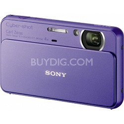 Cyber-shot DSC-T99 14MP Violet Touchscreen Digital Camera - Open Box