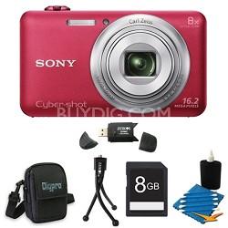 DSC-WX80 16 MP 2.7-Inch LCD Digital Camera Red Kit