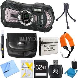 WG-30W Digital Camera with 2.7-Inch LCD Carbon Gray 32GB Bundle