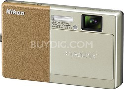 COOLPIX S70 12MP 3.5 inch Touchscreen Digital Camera (Light Brown)