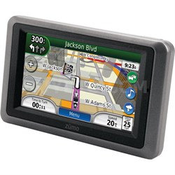 Zumo 665LM GPS Motorcycle Navigator XM Receiver Lifetime Map Updates - OPEN BOX