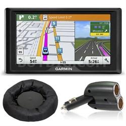 Drive 60LMT GPS Navigator (US Only) Charger + Dash Mount Bundle