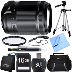 18-200mm Di II VC All-In-One Zoom Lens for Sony Mount 16GB Memory Card Bundle