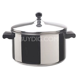 50005 Classic Stainless Steel Covered Stockpot, 6-Quart