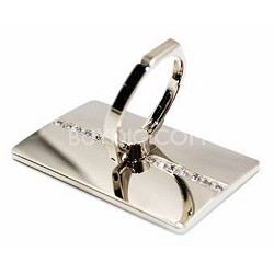 Universal Smart Holder & Stand in Titanium with Crystal Rhinestones