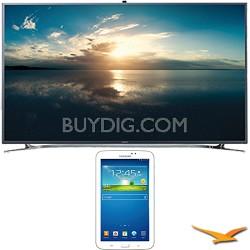 """UN65F9000 - 65"""" 4K Ultra HD 120Hz 3D Smart LED TV - 7-Inch Galaxy Tab 3 Bundle"""