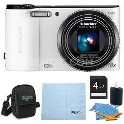 4 GB Bundle WB150F 14 MP 18X Wi-Fi Digital Camera - White