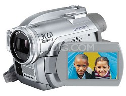 "VDR-D300 - 3CCD DVD Camcorder, 10x Zoom, 3.1 MP Still, 2.5"" LCD - Refurbished"