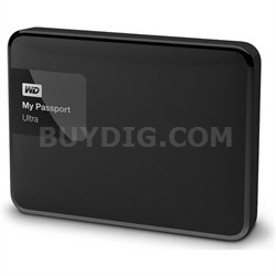 My Passport Ultra 2TB Portable External Hard Drive USB 3.0 Black - OPEN BOX