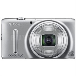 COOLPIX S9500 18.1MP 22x Zoom Digital Camera - Silver (Factory Refurbished)