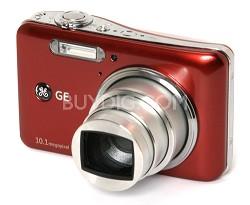 "A1050 10.1MP 2.5"" LCD 5x Zoom Digital Camera (Red)"